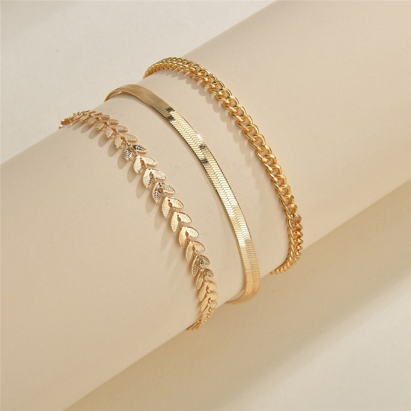 Simple Chain Anklets for Women