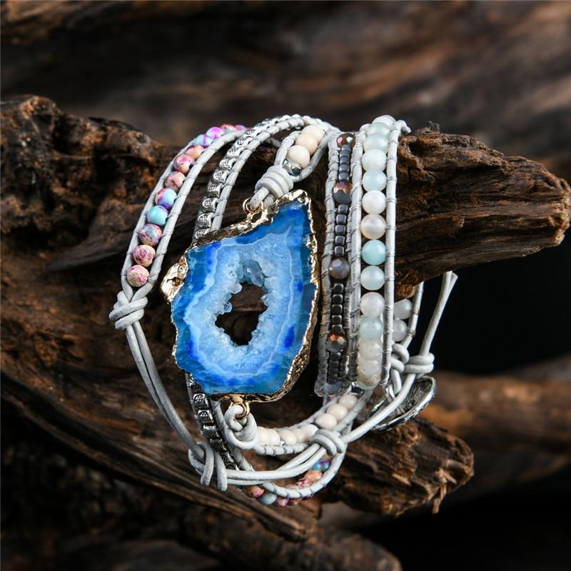 Boho Bracelet with Natural Stones for Women