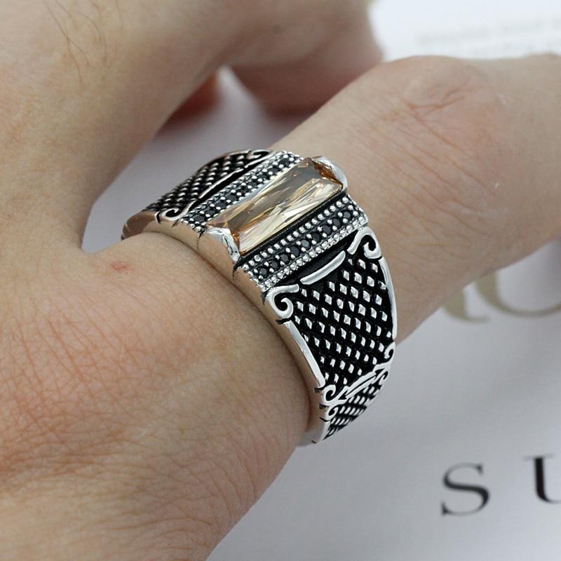 Men Silver Engagement Rings