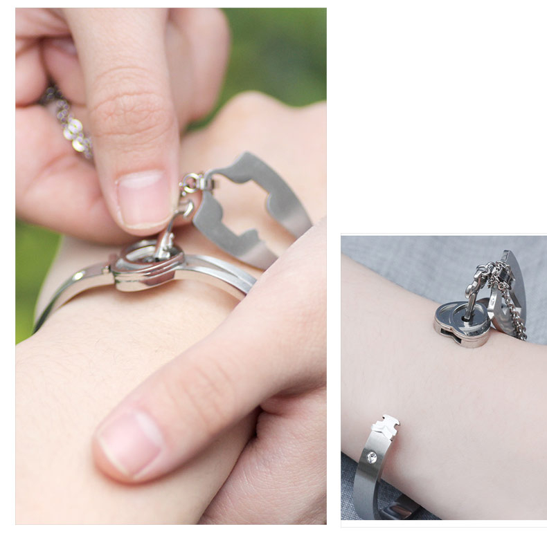 Heart Shaped Lock Jewelry Set for Lovers
