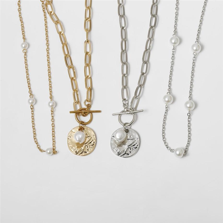 Women's Baroque Pearl Coin Pendant