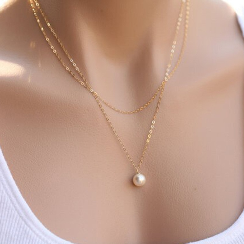 Simple Styled Double Layer Necklace