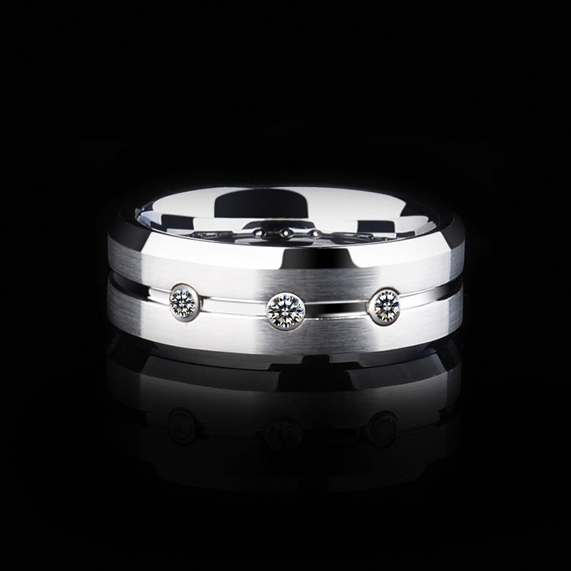 Silver Men's Ring for Engagements