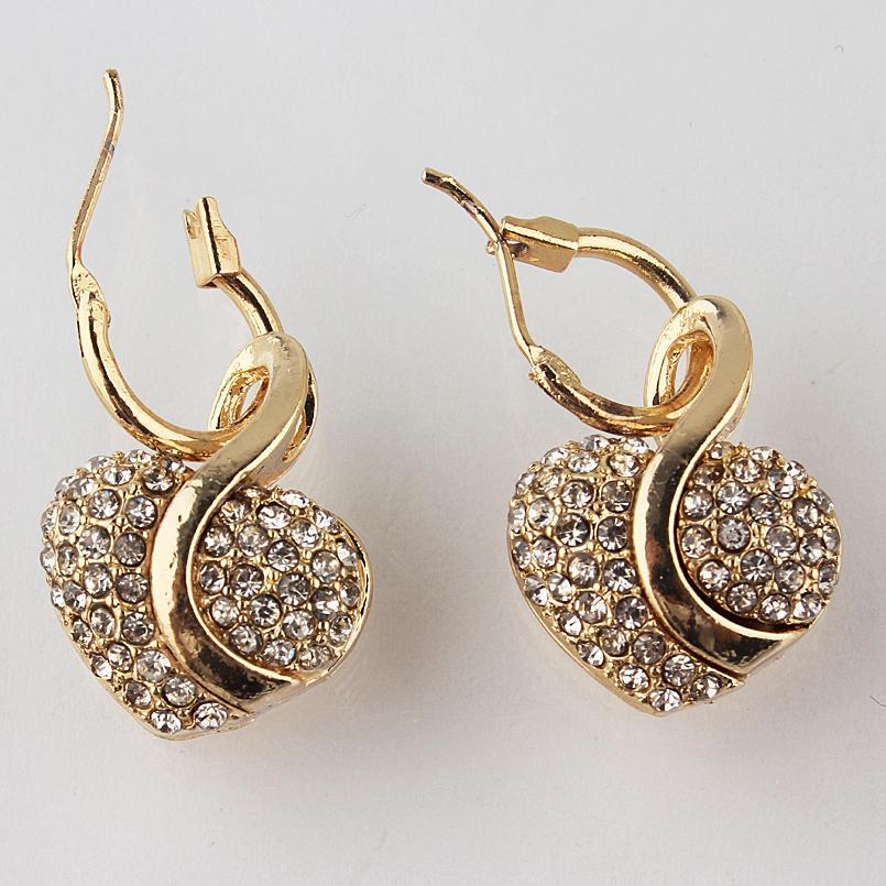 Fashion Gold Crystal Jewelry Set