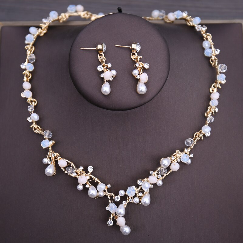 Women's Butterfly Bridal Necklace, Earrings and Tiara Set