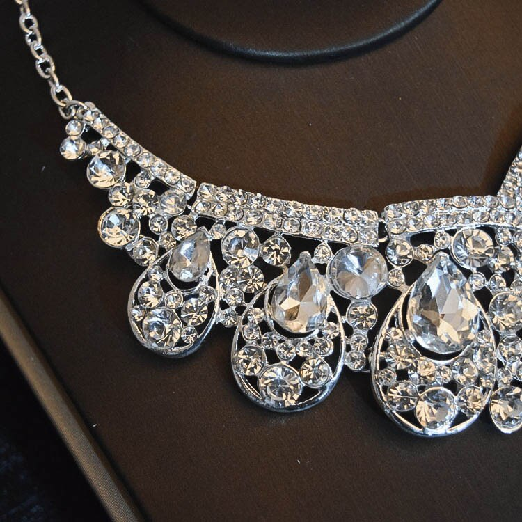 Women's Luxury Bridal Tiara, Necklace and Earrings Set