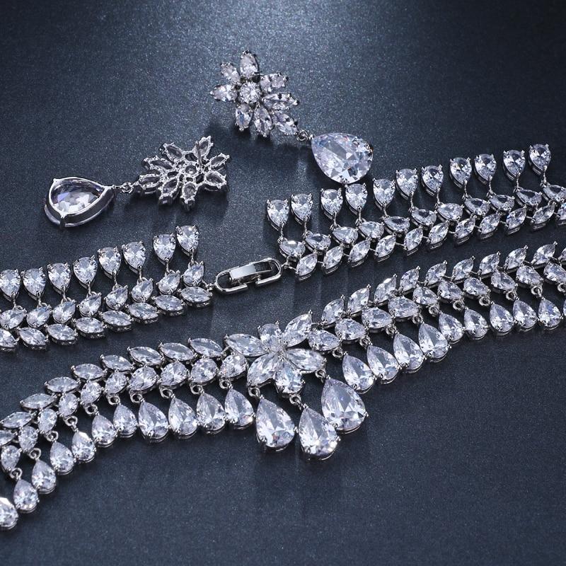 Luxury Cubic Zirconia Bridal Jewelry Set