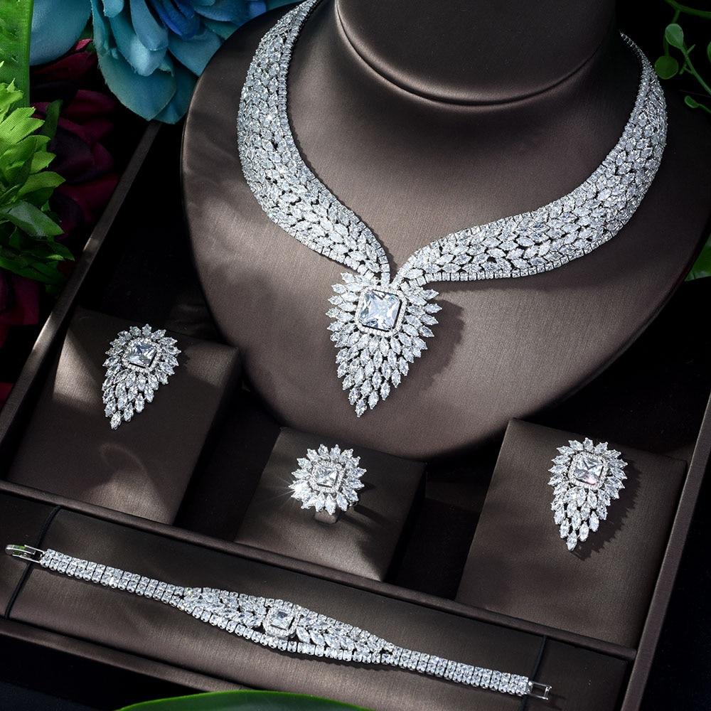 White Color Fashion Wedding Jewellery Set