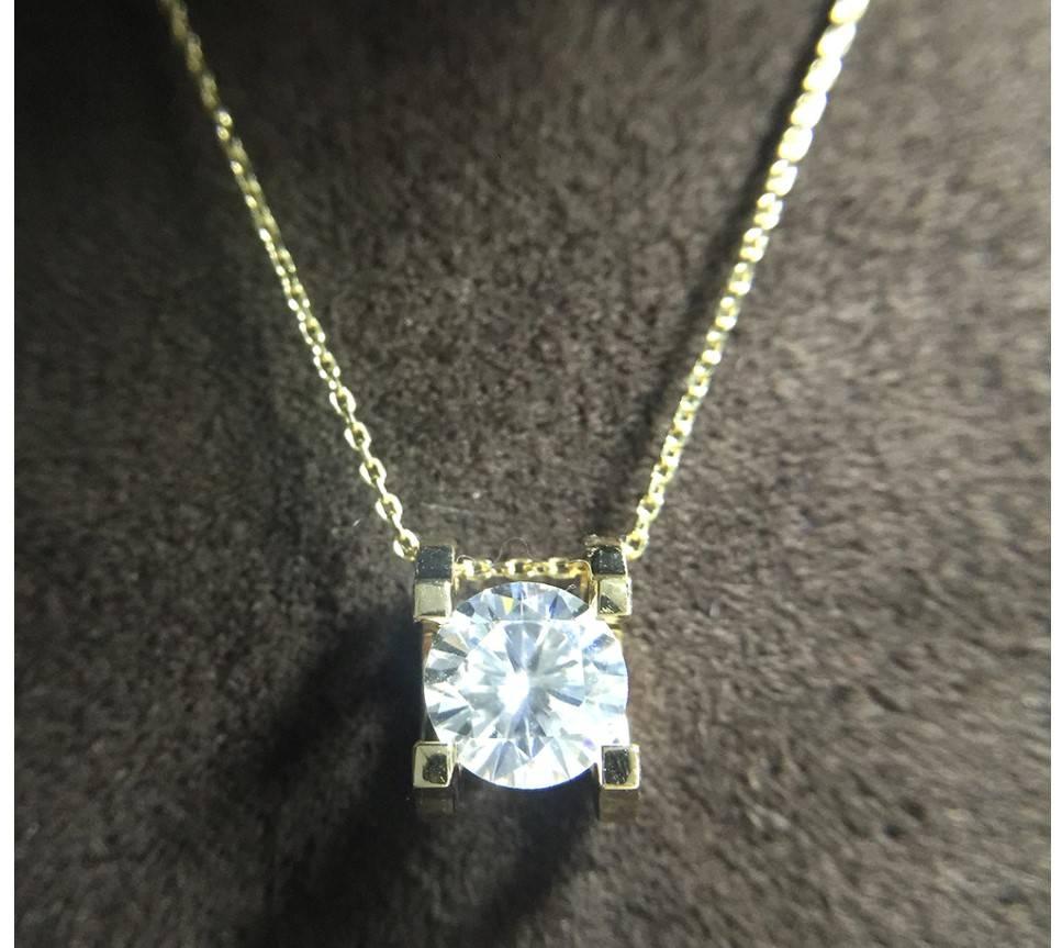 Women's 14K Gold Moissanite Necklace