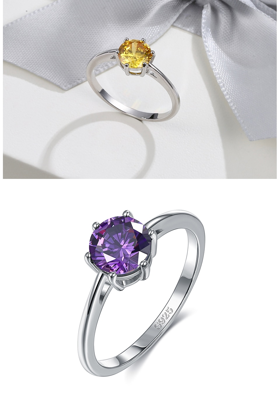 Natural Emerald CZ Bridal Ring