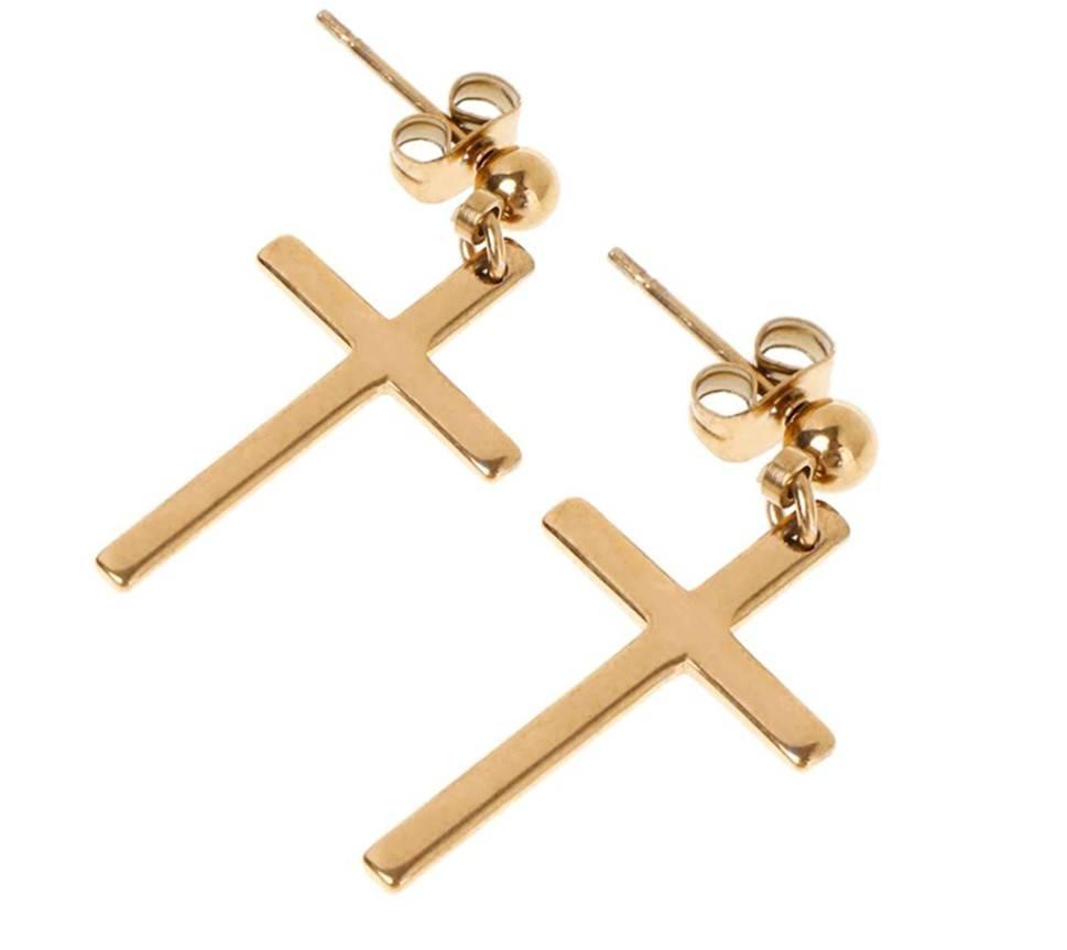 Unisex Cross Earring