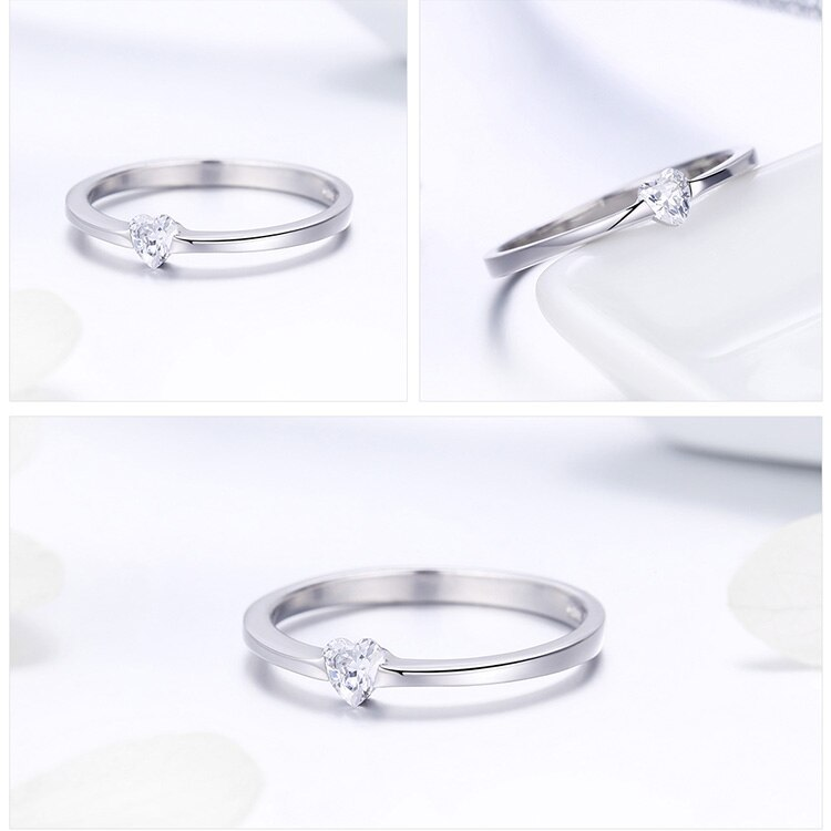 Women's Romantic 925 Sterling Silver Ring for Wedding