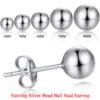 Silver / Ball Earring
